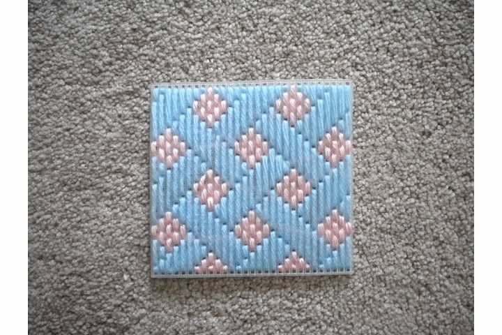 Different Types of Needlepoint Stitches | ... with the lattice stitch. You can see the weaving stitch on the top
