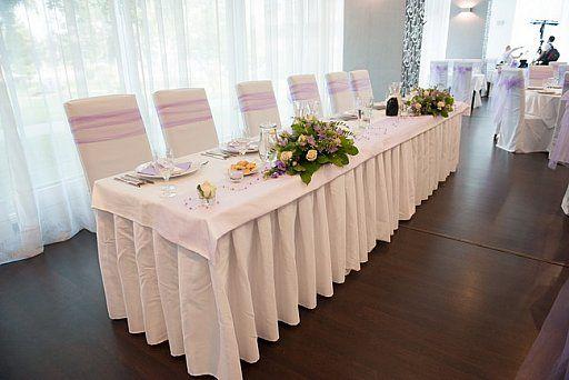 Fialová svadobná výzdoba/Light purple wedding decoration