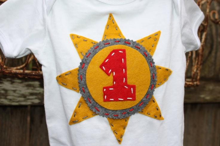You Are My Sunshine birthday onesie/shirt // by KatyGirlGoods, $22.00