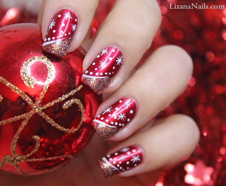 ongles en gel deco noel