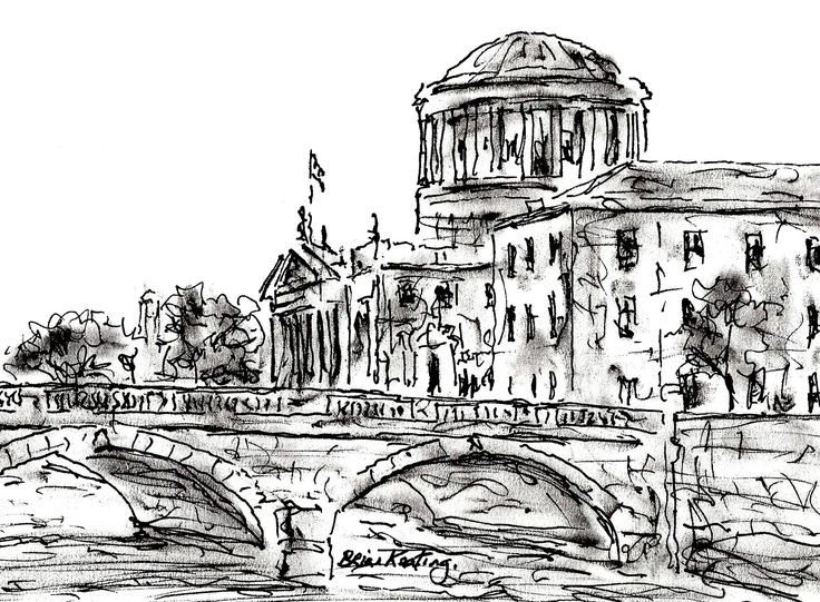 """The Four Courts"" Dublin"