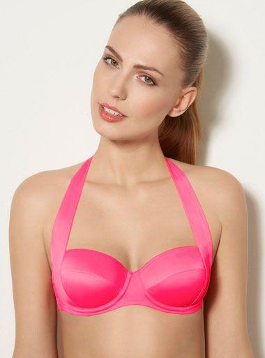 Martinique Multiway Bikini Top - Neon Pink | Boux Avenue