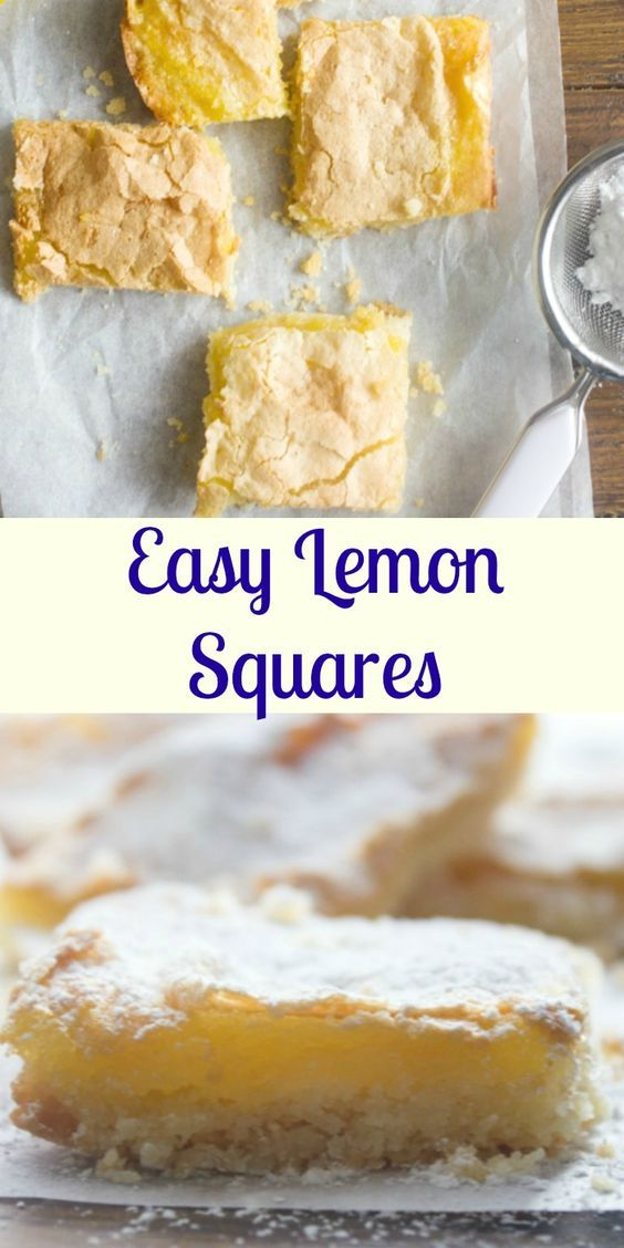 Lemon Squares, the best, easy lemon squares recipe, a delicious shortbread crust and a yummy lemony filling/topping. A must try.