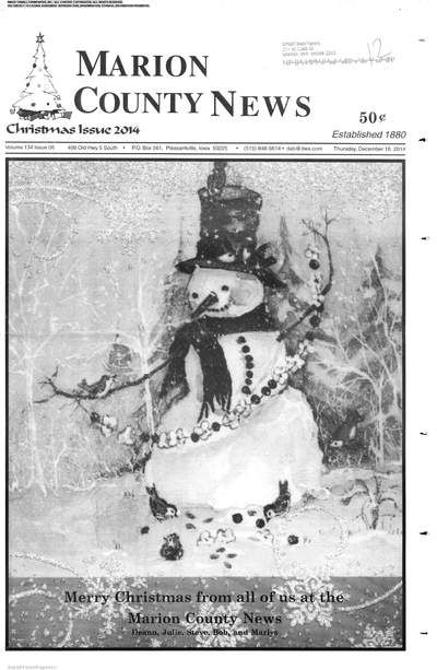 The Marion County News (Pleasantville, Iowa) newspaper archives are available at http://mar.stparchive.com/