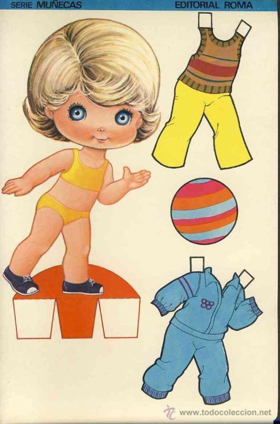 Coleccion completa 10 recortables muñecas EXTRA RECORTE Ed.Roma. Doble hoja cartulina (v.fotos adic) - Foto 8