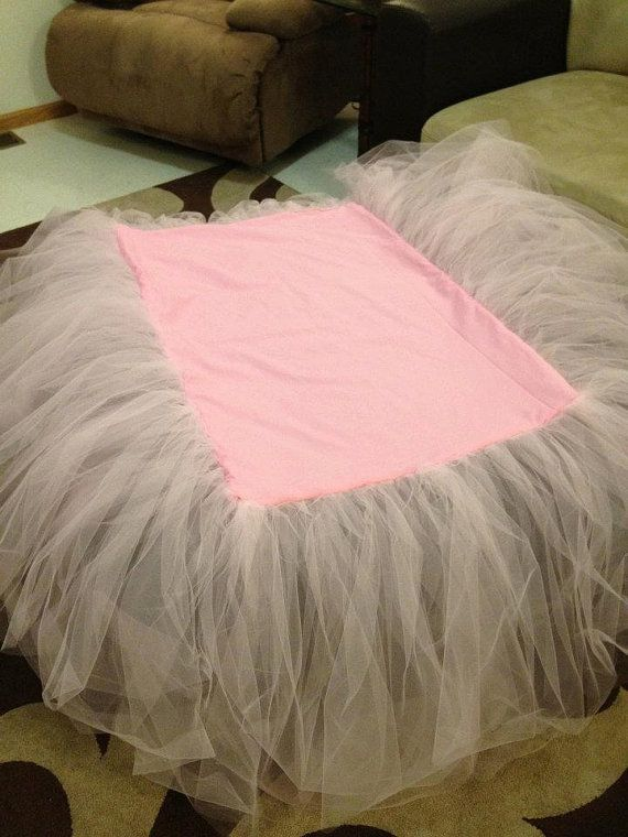 Ballerina Tutu Crib Skirt by CandicaneDesigns on Etsy, $38.00