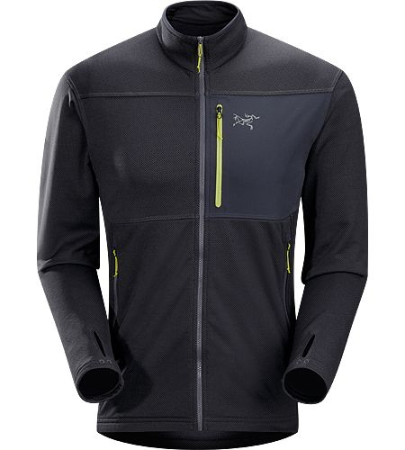 Konseal Jacket Men's Trim-fitting, mid-weight, hardface fleece mid-layer that moves easily inside a shell - size medium