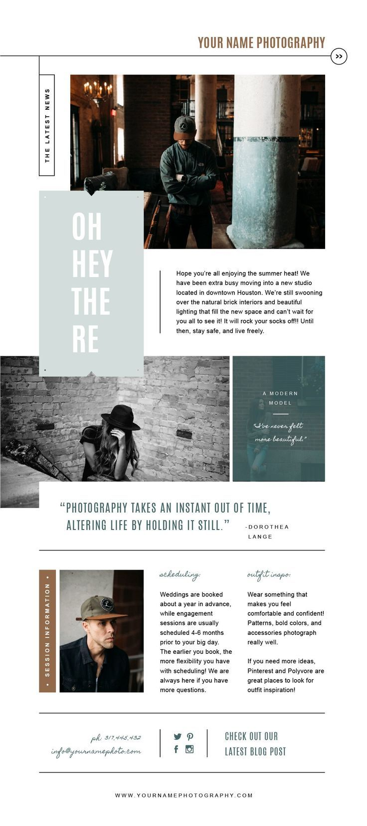 Sale Newsletter Template For Email Pinterest And Social Etsy Newsletter Design Layout Photography Marketing Templates Newsletter Design Templates