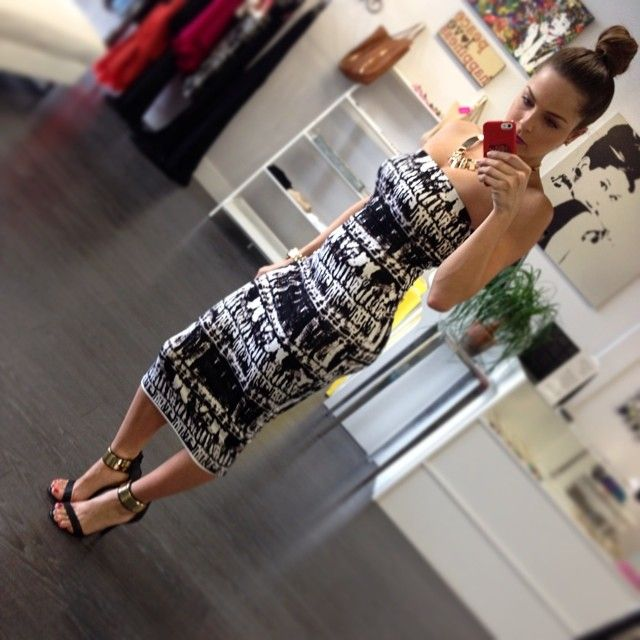 every girl should have a midi length dress. so chic!