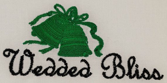 Digital Embroidery Design  Wedded Bliss by EmbroideryDesignsBRN