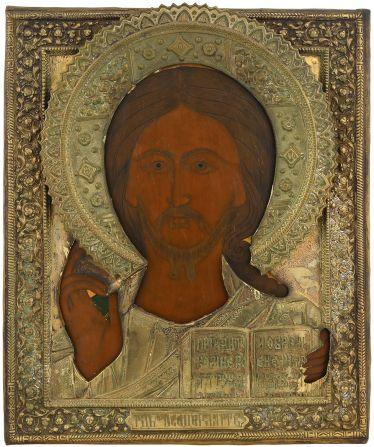 Christus Pantokrator mit Oklad