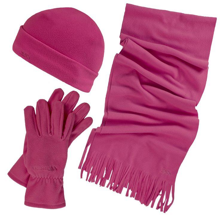 Trespass Damen Set aus Mütze, Schal und Handschuhen, Sangria, One Size:  Ein freundliches Geschenk für Weihnachten.