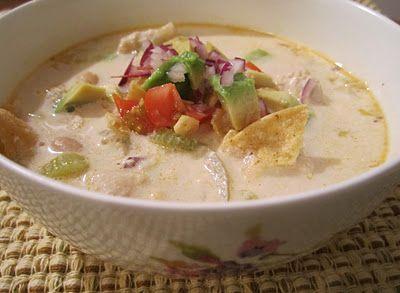 white chicken tortilla soup, courtesy of theirishmotherblogspot.com