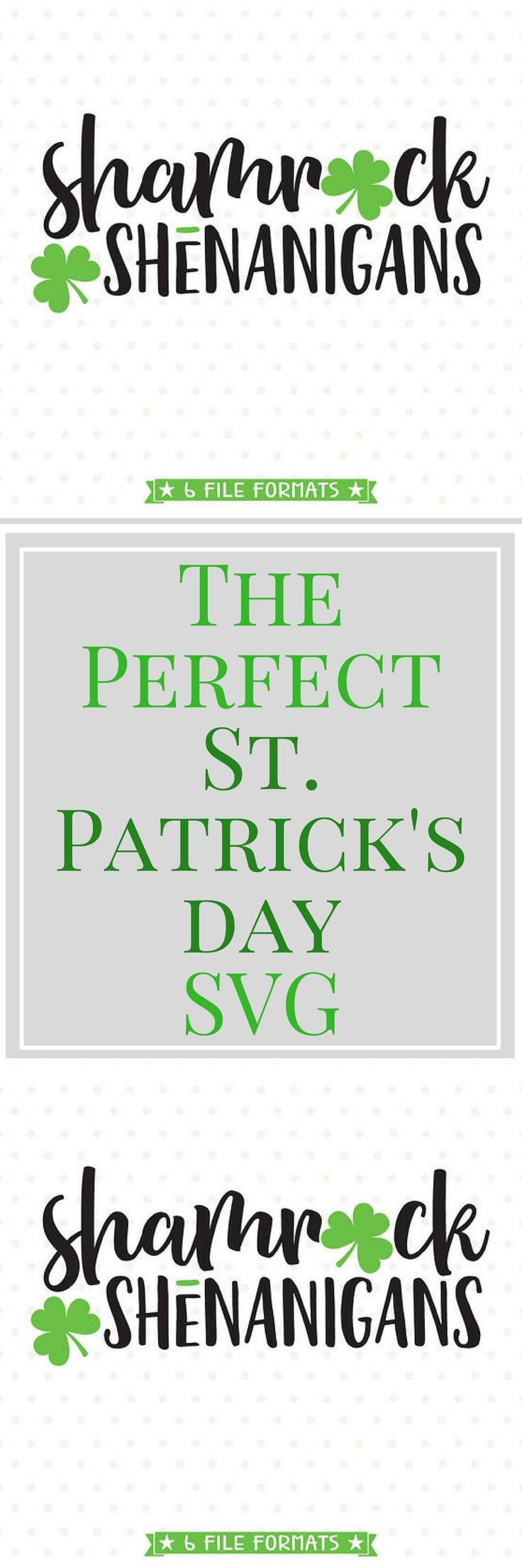 Go wild with this festive St Patricks Day SVG file. Cuttable SVG files are perfect for all your DIY projects or handmade business product lines. You can use this Shamrock SVG file with your vinyl cutting machine or print it out on to Iron on transfer paper to create cute shirts for St Patricks Day, mugs, tumblers, cards, party decor and more for yourself, for others, or to resell. Shamrock Shenanigans svg, St Patricks svg, Shamrock SVG file, Cuttable SVG file, Iron on file
