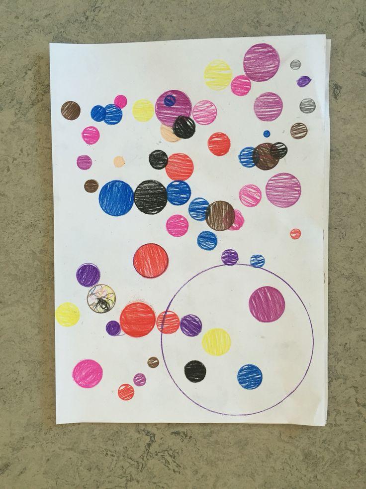 2. klasse arbejder med former og farver