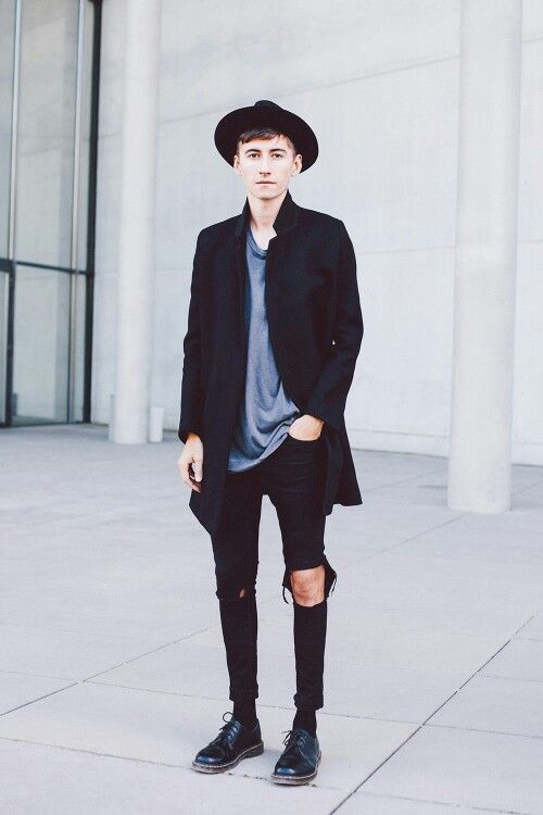 Black Stretch Skinny Jeans Mens