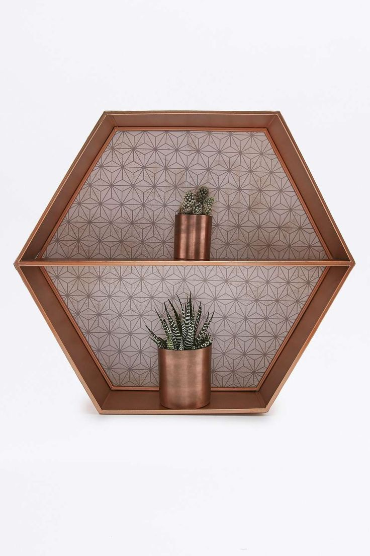 copper hexagon shelf w a n t pinterest wandregal kupfer und einrichten und wohnen. Black Bedroom Furniture Sets. Home Design Ideas