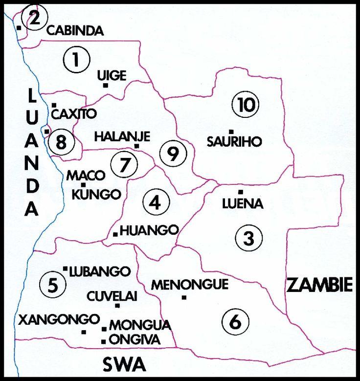 The Military regions of Angola Die Militere streke van Angola