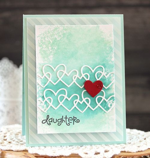 Daughter card by Laurie Schmidlin for Paper Smooches Blog Hop - Linked Hearts Die, Kinfolk