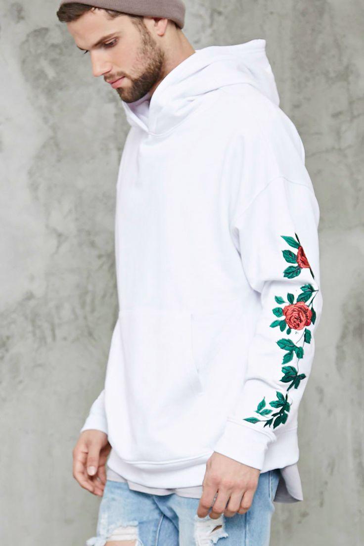 Floral Embroidery Hoodie