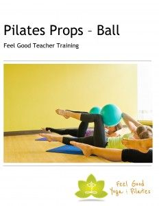 Comprehensive pilates teacher training manual covering exercises with different balls