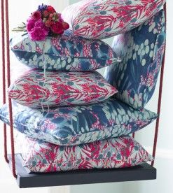 Jungle and Ocean piped scatter cushions, from £49
