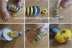 DIY Babyspielzeug Deckelschlange | KreativkramsBlog