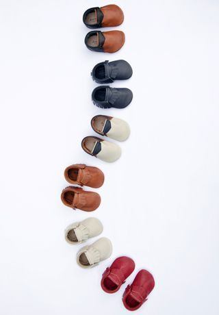 Beautiful leather moccasins from Amy & Ivor