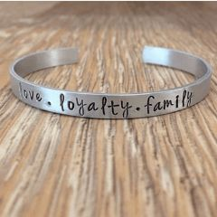 Love Loyalty Family Cuff Bracelet