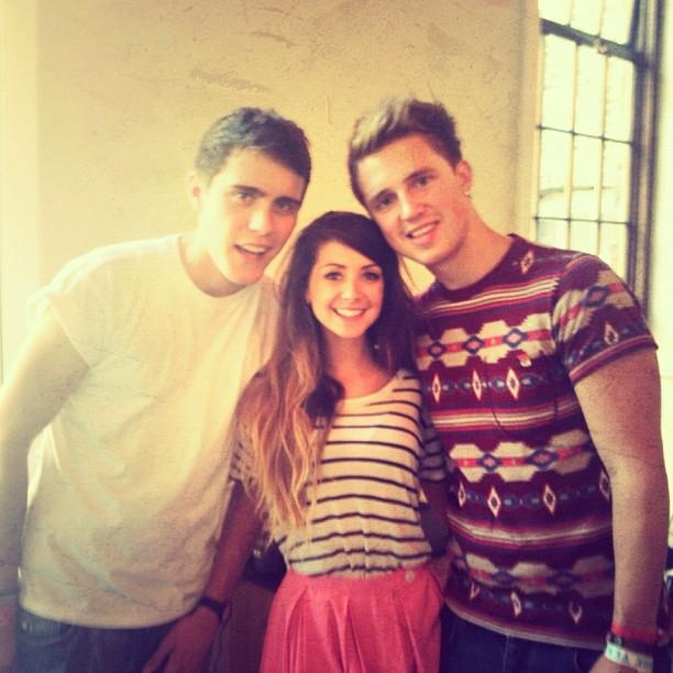 Alfie, Zoella, and Marcus. My favorite people. <3 Can't believe I can see them everywhere!