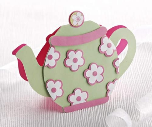 Teapot card Instructions with template