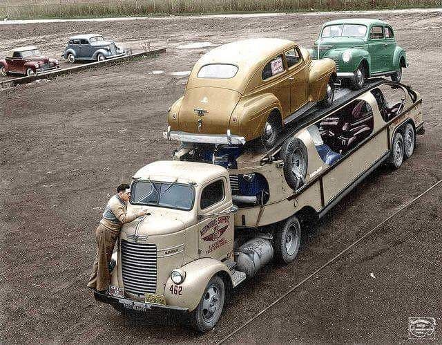 1940s Look at the truck trailer streamlined design! From ...