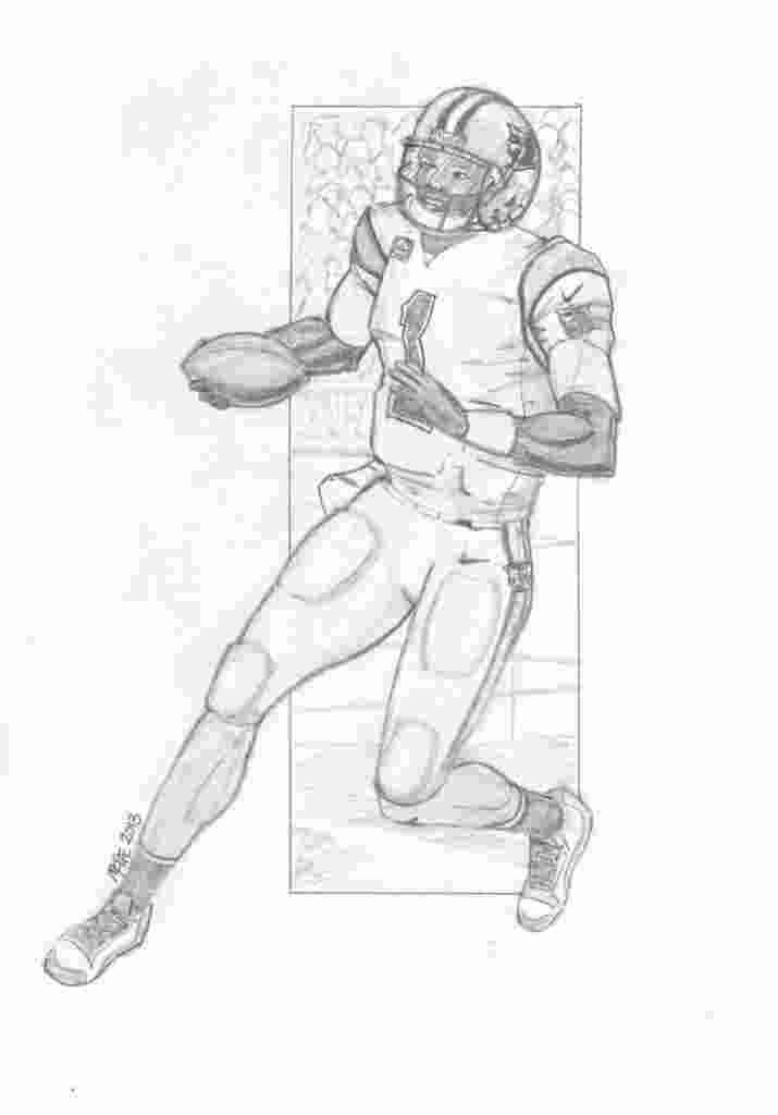 Printable Cam Newton Coloring Pages In 2020 Football Coloring Pages Coloring Pages Dolphin Coloring Pages