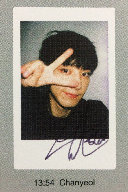 Chanyeol - EXO-L Japan offical book - polaroid (cr night ...