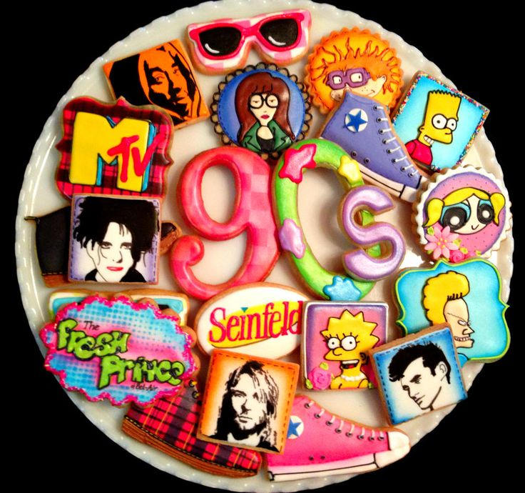 90's Themed Cookies | Cookie Connection                                                                                                                                                     More