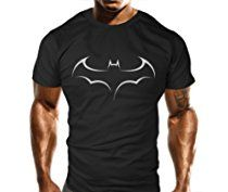 New TRIBAL BAT Gym T-Shirt - Training Top - Sports - Bodybuilding Casual Loose Fit