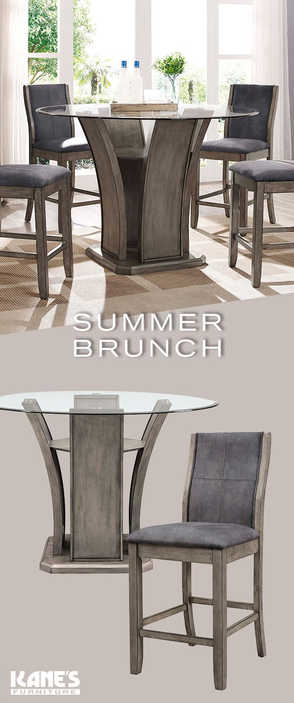 Host Elegant Summer Brunches With Tasty Food And Tasteful Furniture. Like  The Destin Dining Set, A Charming Tulip Style Table With Sleeu2026 | Dining  Rooms In ...