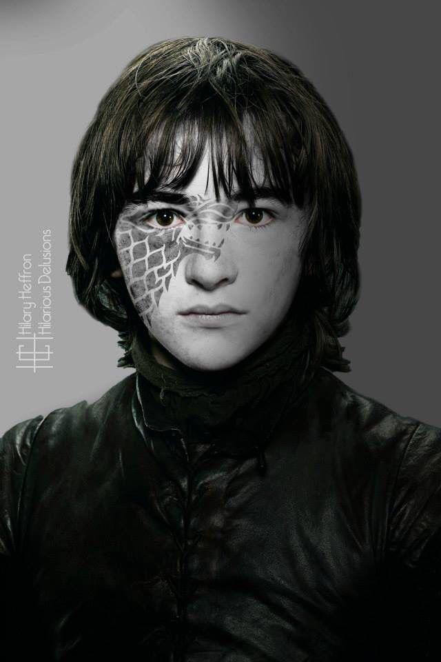 Game of Thrones. Bran Stark House War Paint by HilaryHeffron