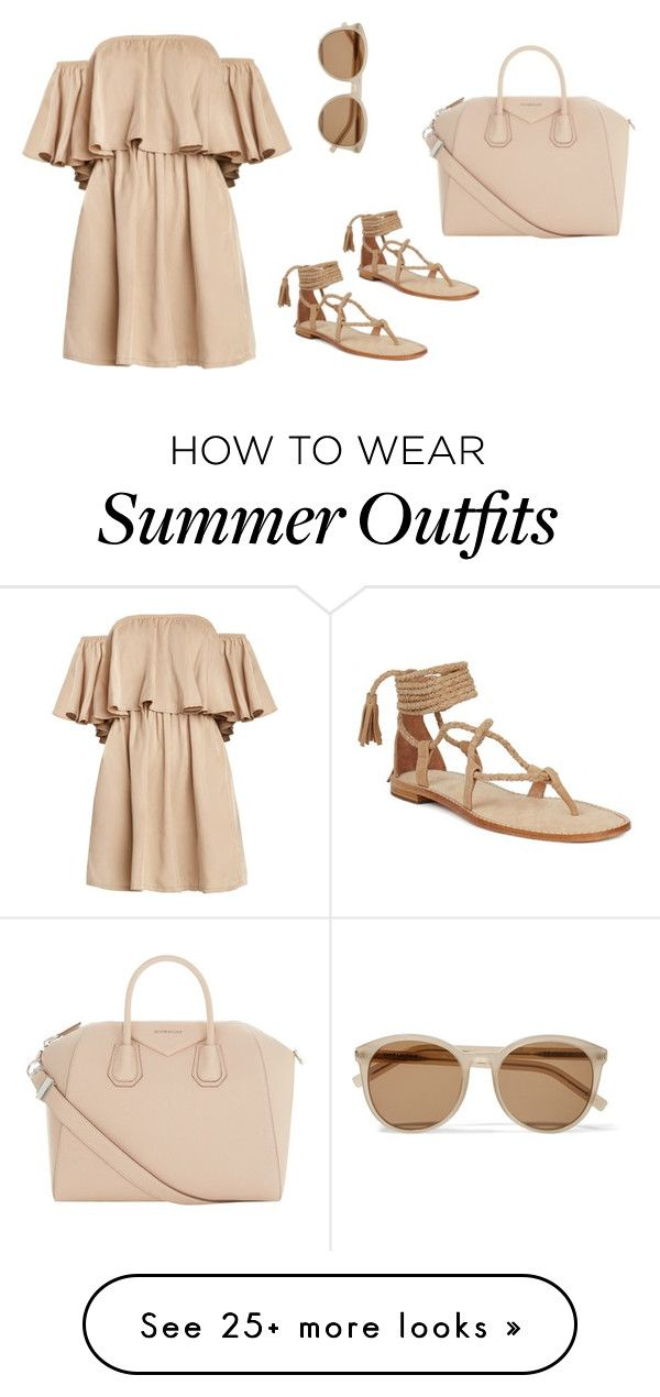"""Beige Summer Outfit"" by carinalynngonyer on Polyvore featuring Yves Saint Laurent and Givenchy"