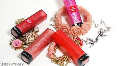 Revlon Lip Butters in Pink Truffle, Lollipop, Candy Apple, Red Velvet