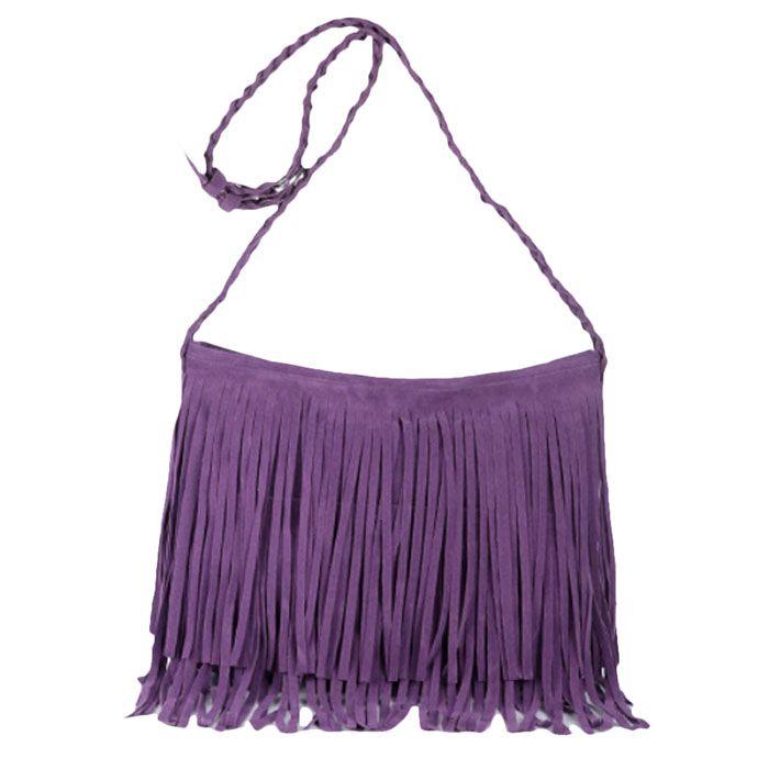 Best Selling Women Fashion Tassel Suede Fringe Single Shoulder Handbag New arrival Women  famous brand