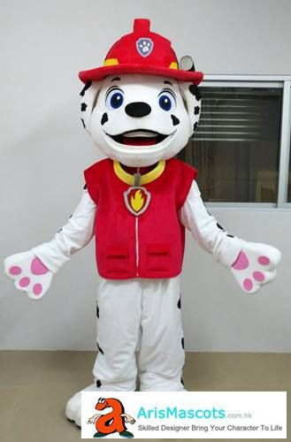 Adult size Paw Patrol Marshall mascot costume, cartoon mascot suit