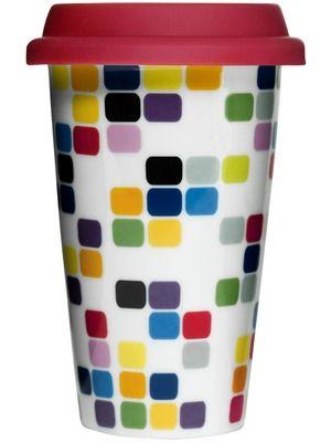 Sagaform Pix takeaway krus med silikonlokk Porselen. Dobbeltvegg.Størrelse: 25 cl. H 150 mm. Trykk: Ønsker du din logo på dette produktet? Be oss om pris på post@blatt.no