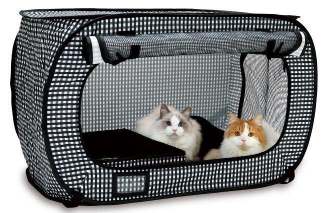 ネコのための防災グッズ ― 持ち運びに便利な「猫壱 ポータブル ケージ」 - えんウチ