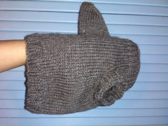 Hand Knit One-Size-Fits-Most Gray Shark Sweater for Cats or Small Dogs