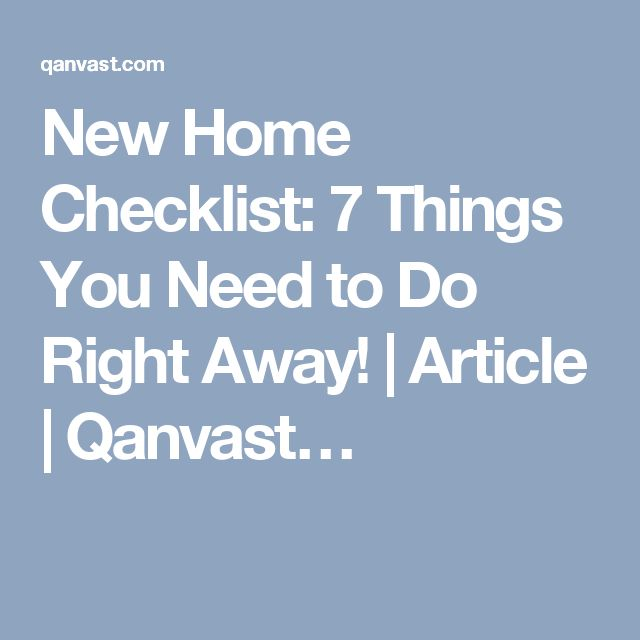 Best 25 new home checklist ideas on pinterest new house for Things you need for a new home