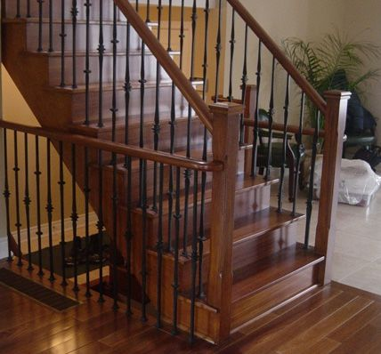 indoor railings depot wood stair kits home interior railing