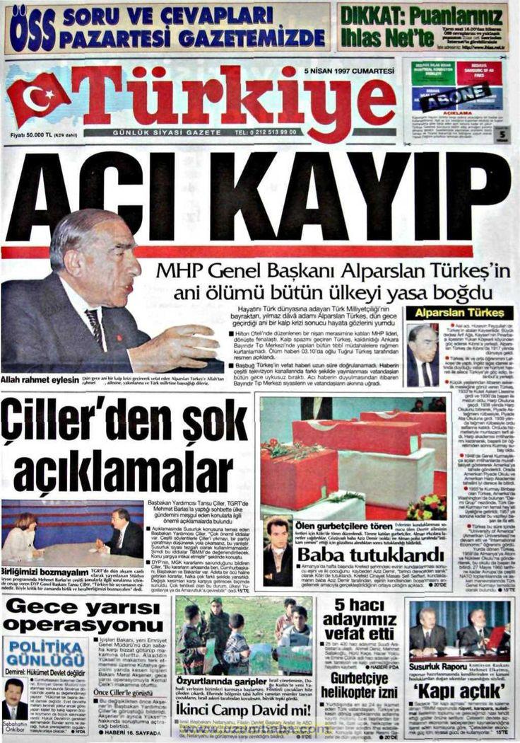 Türkiye gazetesi 5 nisan 1997