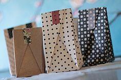 Des sachets faits maison...  {... en origami }
