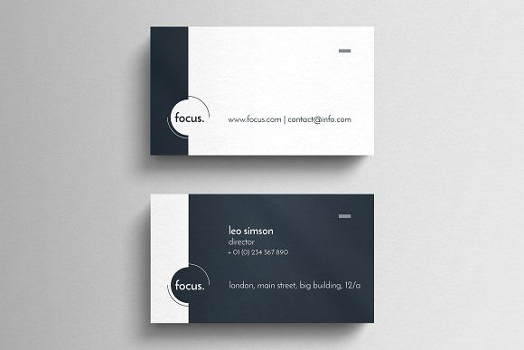 Corporate Business Card Template Graphic Design Business Card Business Card Graphic Simple Business Cards